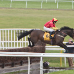 Kinkeel taking the water jump at Newbury